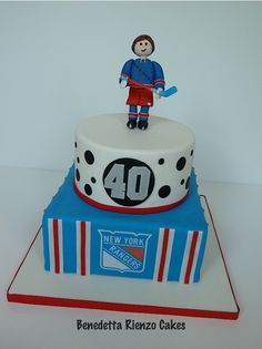 NY Rangers Hockey Cake - NY Rangers Hockey Cake for a 40th birthday celebration.