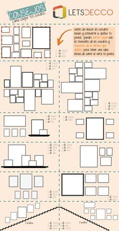 infografia de la ubicacion de cuadros en casa