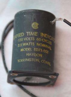 Vintage HAYDON elapsed time indicator, avionics, aircraft, model ED71-001- Torrington Connecticut
