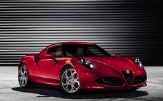 2014 Model Kırmızı Renkli Alfa Romeo 4C Duvar Kağıdı