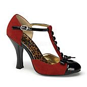 Womens Smitt-10 black and red high heel dress shoes at Shiekh Shoes