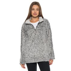 Frosty Tipped Women's Stadium Pullover in Charcoal by True Grit (Dylan) #$100-to-$200 #amazon #cf-size-l