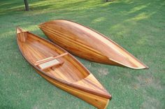 Wee Lassies: One-man canoes before maiden voyage.