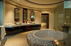 House Cal: A Stunning Modern Mansion – Adorable Home Mansion Bathrooms, Dream Bathrooms, Dream Rooms, Beautiful Bathrooms, Luxury Bathrooms, Fancy Bathrooms, Glamorous Bathroom, Modern Bathrooms, Home Modern