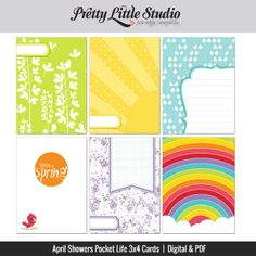 Free 3x4 Journal Cards from Pretty Little Studio when you join The Pocket Source Group {on Facebook}
