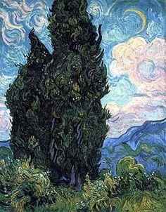 Vincent Van Gogh, Cipressi, 1889