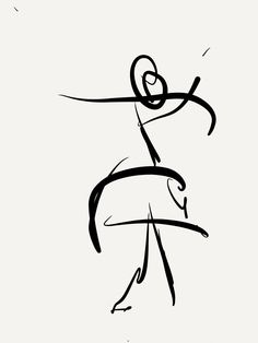 Digital gesture drawing from dance recital. 3/7/14 Kevin Houchin