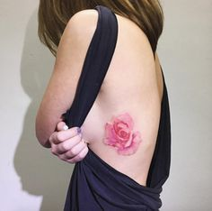 Watercolor Rose Tattoo by Ilwol