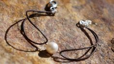 Pearl and Leather Bracelet   Simply Leather Collection