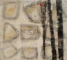 "Paul Eche, ""Geometric 12"", mixed media"