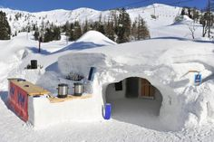 Snow Igloo ski resort in Krvavec, Slovenia.