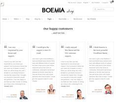 Boemia WordPress Theme - Testimonials