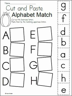 Preschool alphabet worksheets and coloring pages help your little one master all the letters of the alphabet. Check out our preschool alphabet printables. Letter Worksheets For Preschool, Matching Worksheets, Free Kindergarten Worksheets, Preschool Letters, Letter Activities, Preschool Learning Activities, Free Preschool, Free Printable Alphabet Worksheets, Cut And Paste Worksheets