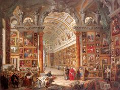 Giovanni Paolo Pannini (Italian painter) 1692 - 1765 Interior of a Picture Gallery with the Collection of Cardinal Silvio Valenti Gonzaga, 1749 Oil on canvas, 78 x 105 1/2 in. Wadsworth Atheneum Museum of Art