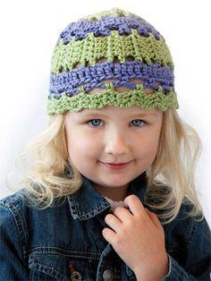 What a sweet little crochet hat!