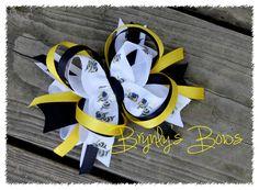 Henryville Hornet Pride Stacked Hair Bow - $6