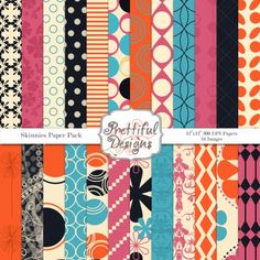 Skinnies #Digital #Paperpack by @prettdesigns | Download here http://www.luvly.co/users/PrettifulDesigns
