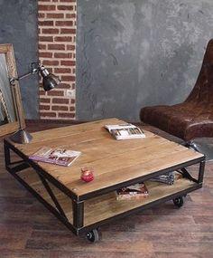 Table basse industrielle Loft - Bois & Métal