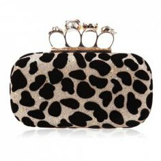 $13.85 Party Women's Evening Bag With Rhinestone and Leopard Print Design