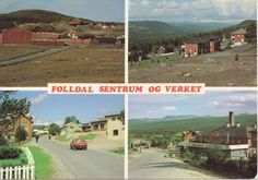 Folldal ca. 1990. Østerdalen, Hedmark. 4 bilders-kort.