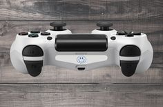 White Smiley Face Playstation 4 (PS4) Dual Shock Controller Light Bar Decal (Pack of 3)