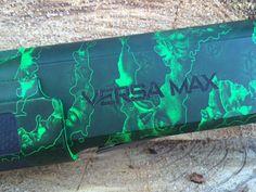 Remington Versa Max green zombie shotgun.  Love this design.  Loading that magazine is a pain! Get your Magazine speedloader today! http://www.amazon.com/shops/raeind
