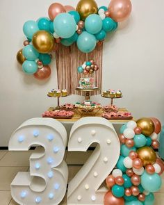 32 Birthday, 30th Birthday Parties, Simple Birthday Decorations, Balloon Decorations, 21st Bday Ideas, Ideas Para Fiestas, Baby Shower Balloons, Gold Party, Birthdays
