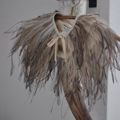 love this fab lisa brown feather cape. Parachute Dress, Feather Cape, Feather Fashion, Wedding Inspiration, Style Inspiration, Altered Couture, Bridal Comb, Shoe Clips, Crossdressers