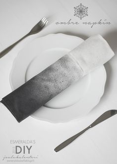 liukuvärjätty servetti