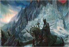 The Lord of the Rings - John Howe Art - The Witch-King of Mordor