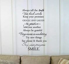Always tell:  & remember to smile