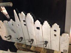Grachtenpandjes kapstok steigerhout