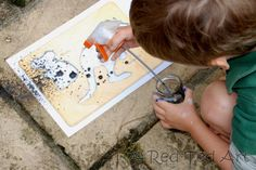Make street art with stencils and watered down tempera.  A great activity after viewing murals and public art downtown.