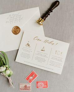 Classic Neutral Italian Destination Wedding Invitations by Fourteen Forty