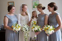 Bridesmaids wear powder blue dresses | Photography by http://www.geesagoo.com/