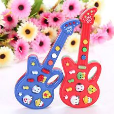 1pc Charming Child Baby Kids Electronic Guitar Toy Rhyme Developmental Music Toy