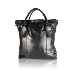 An easy simple shape brings sophisticated flavor to your day. Comes with shoulder strap and nickel plated hardware.           Color: BLACK      Material: 100% Italian Leather, Made in the U.S.A             Made In: United States              Shipped From: United States         Lead Time: More than 1 Week