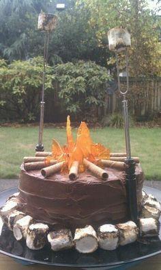 Campfire cake - naturewalkz