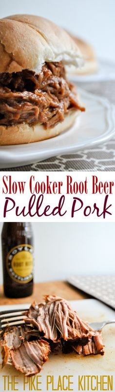 4 ingredients + 1 slow cooker = the most unbelievably delicious crockpot root beer pulled pork!
