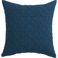 """woolsley blue-green 18"""" pillow with down-alternative insert    CB2"""