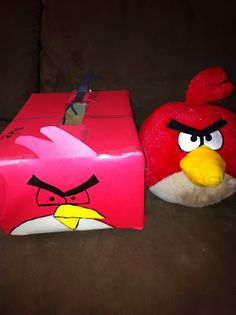 My favorite Pinterest Valentine's Day finds, including making this Angry Birds Valentine box.