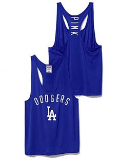 PINK Los Angeles Dodgers Mesh Racerback Tank #VictoriasSecret This is really cute!