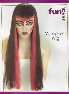 Vampiress Vampire Wig Black With Red Highlights Witch Fancy Dress Halloween in Clothes, Shoes & Accessories, Fancy Dress & Period Costume, Accessories | eBay #Halloween #spooky #creepy #scary #ghostly #monster #vampire #costume #fancydress #dressup #horror #trickortreat #frightening #HarvardMills #LordOfTheLinens #halloweenparty #spooktacular #mask #wig