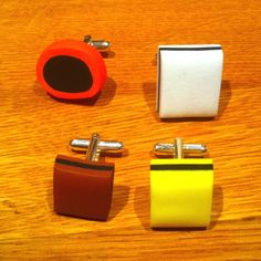 """New """"Allsorts"""" cufflinks. Thank you @linehk for the great birthday-present. Best sister in the world!"""