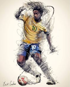 Stefan Feulner the sport wizard scroll through the images for other sport wizards Art Football, Brazil Football Team, Ronaldo Football, Soccer Art, Best Football Players, Soccer Players, Football Quotes, Cr7 Messi, Messi Soccer