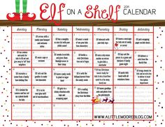 2014 elf on the shelf calendar alittelmooreblog