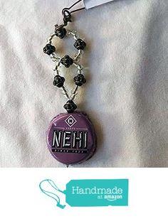Grape Nehi Purple Black and Black Gold Saucer Bead Upcycled Bottlecap Keychain…