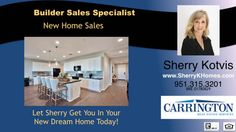 http://ift.tt/2d94PVm Woodside Homes Menifee New Home SalesFor New Home Sales information  call Sherry Kotvis at (951) 315-3201. New home sales are a great option when buying. Hire an experienced agent in new home sales to guide you through the process. Located in Riverside County. there are several New Home options to choose from. Call or text to get a complete list of builder close-outs  quick move properties and more. 951-315-3201