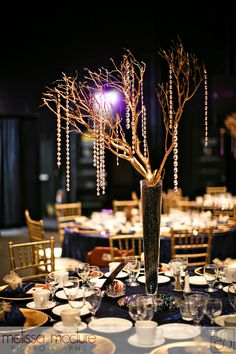 old hollywood glamour centerpiece