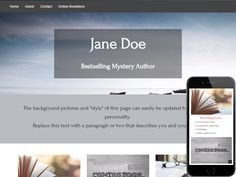 An easy to customize Author/Writer website template with informational pages and a contact form. Only on Talkspot.com